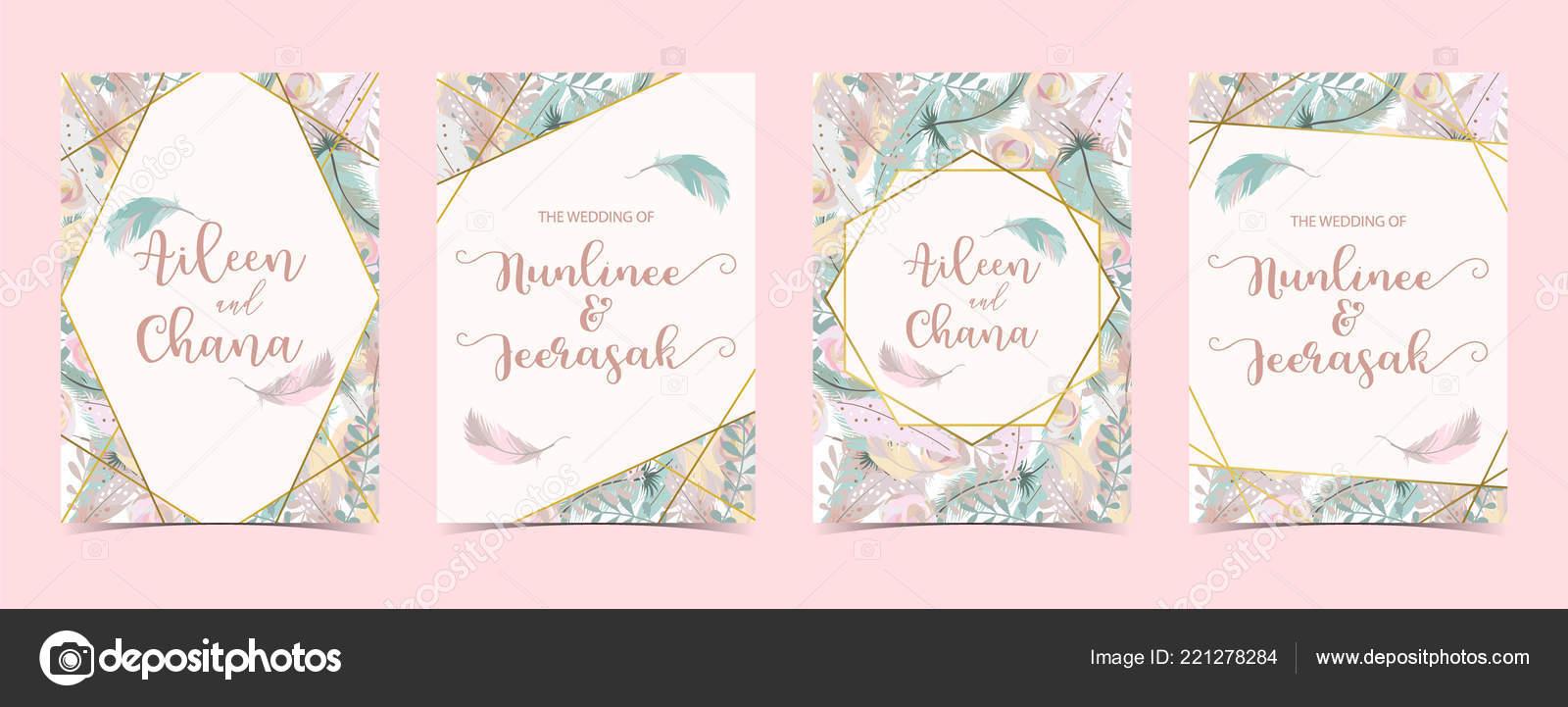 Geometrie Rosa Gold Hochzeit Einladungskarte Mit Rose Blatt