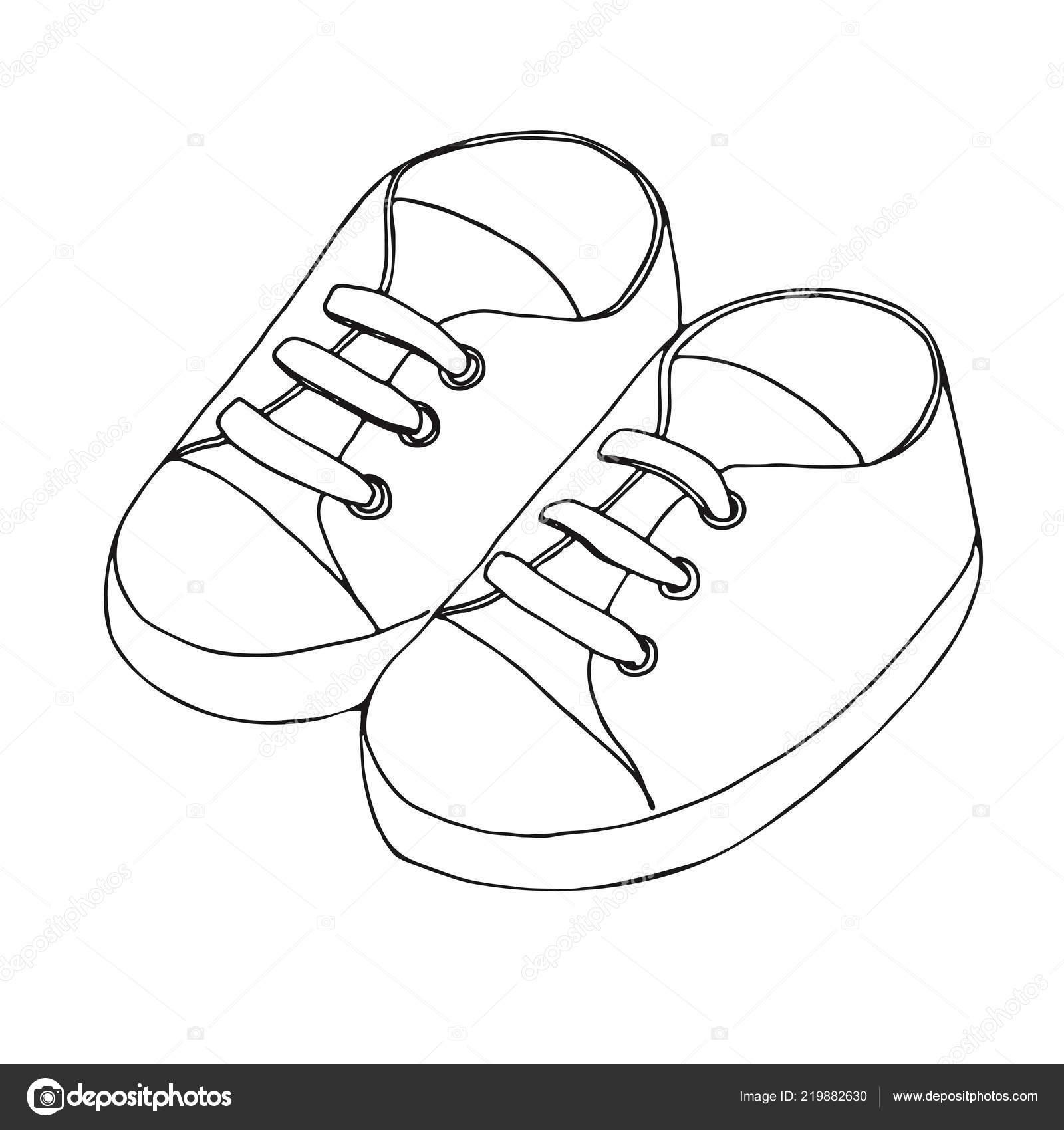 Aislado Sobre Par Dibujo Deporte Zapatos Niño Zapatillas Fondo Para qzMpSUV