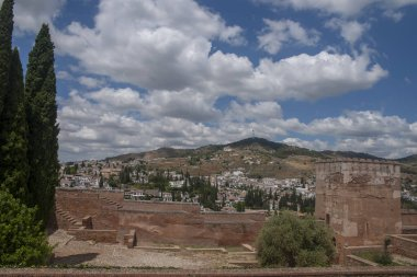 Views of the district of the Albaicn and Sacromonte in Granada, Spain
