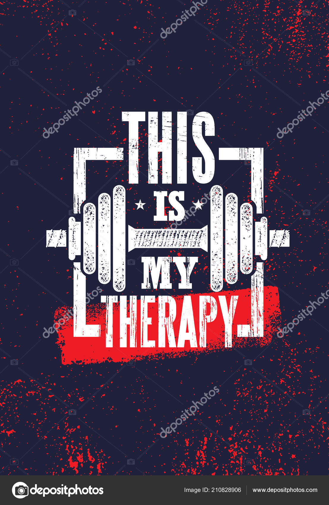 Therapy Fitness Muscle Workout Motivation Quote Poster ...