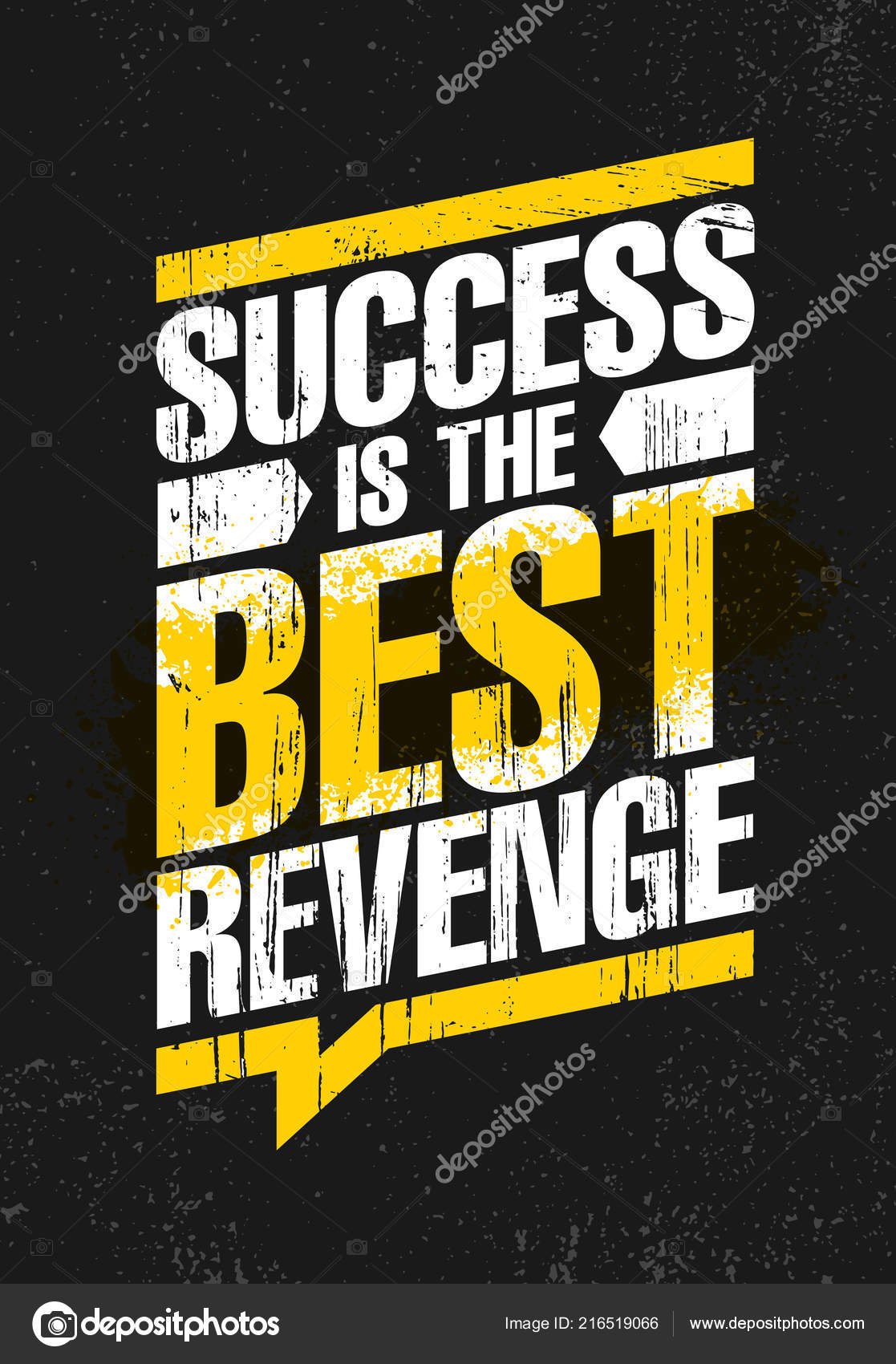 Success Best Revenge Inspiring Creative Motivation Quote Poster