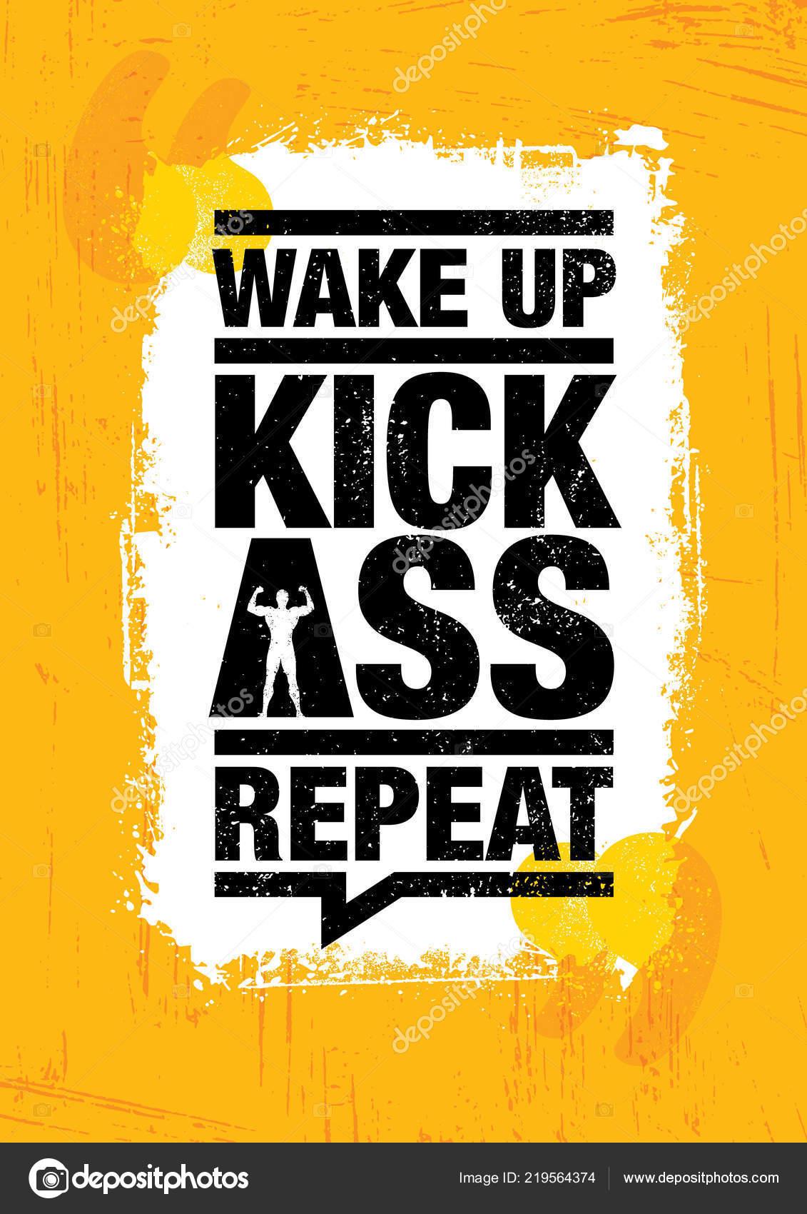 337fcb395 Fitness Academia esporte treino motivação citação Poster. Criativo  inspirador negrito tipografia ilustração sobre fundo áspero Grunge — Vetor  de ...