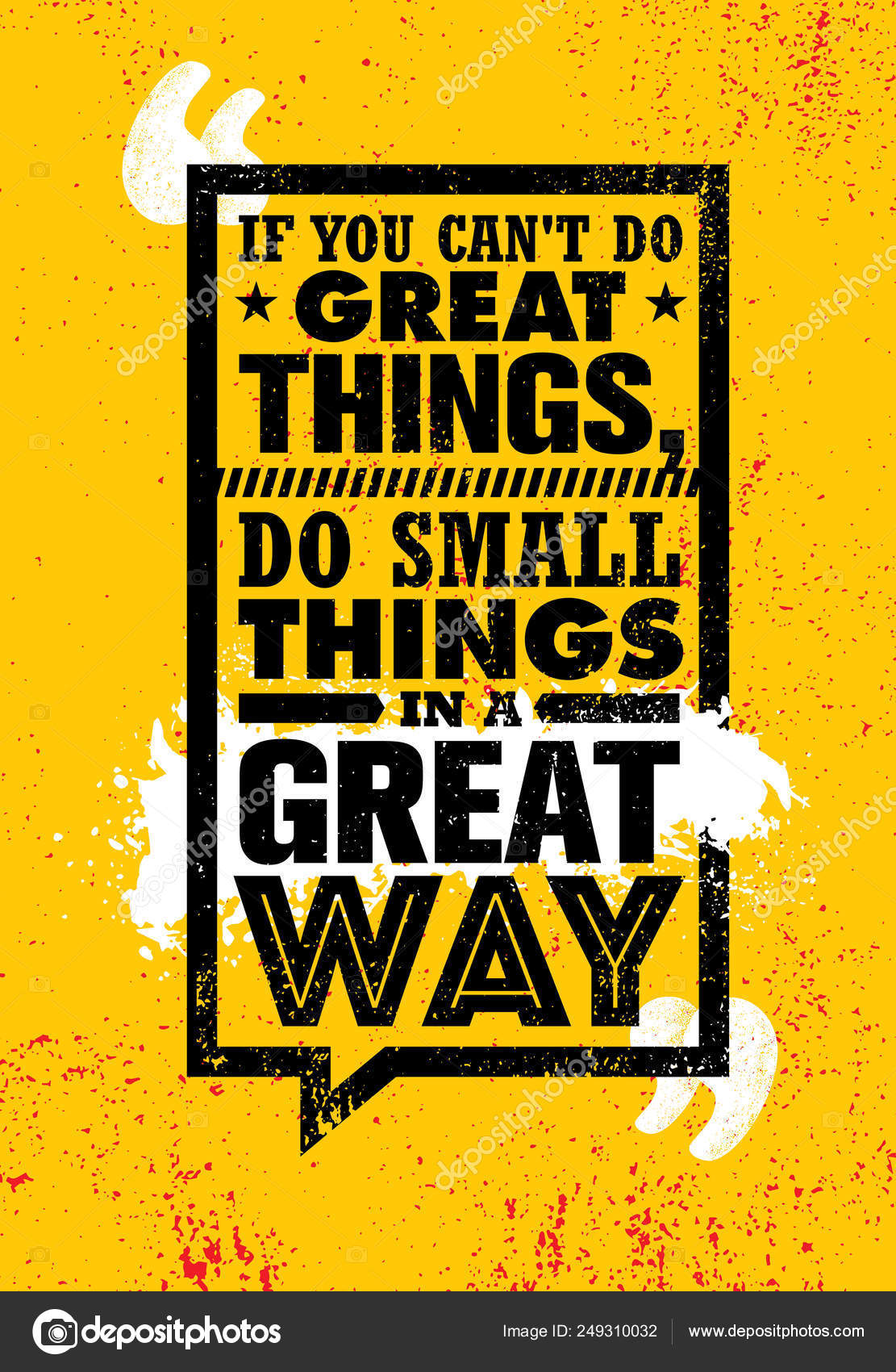 Lettering You Cant Great Things Small Things Great Way Orange