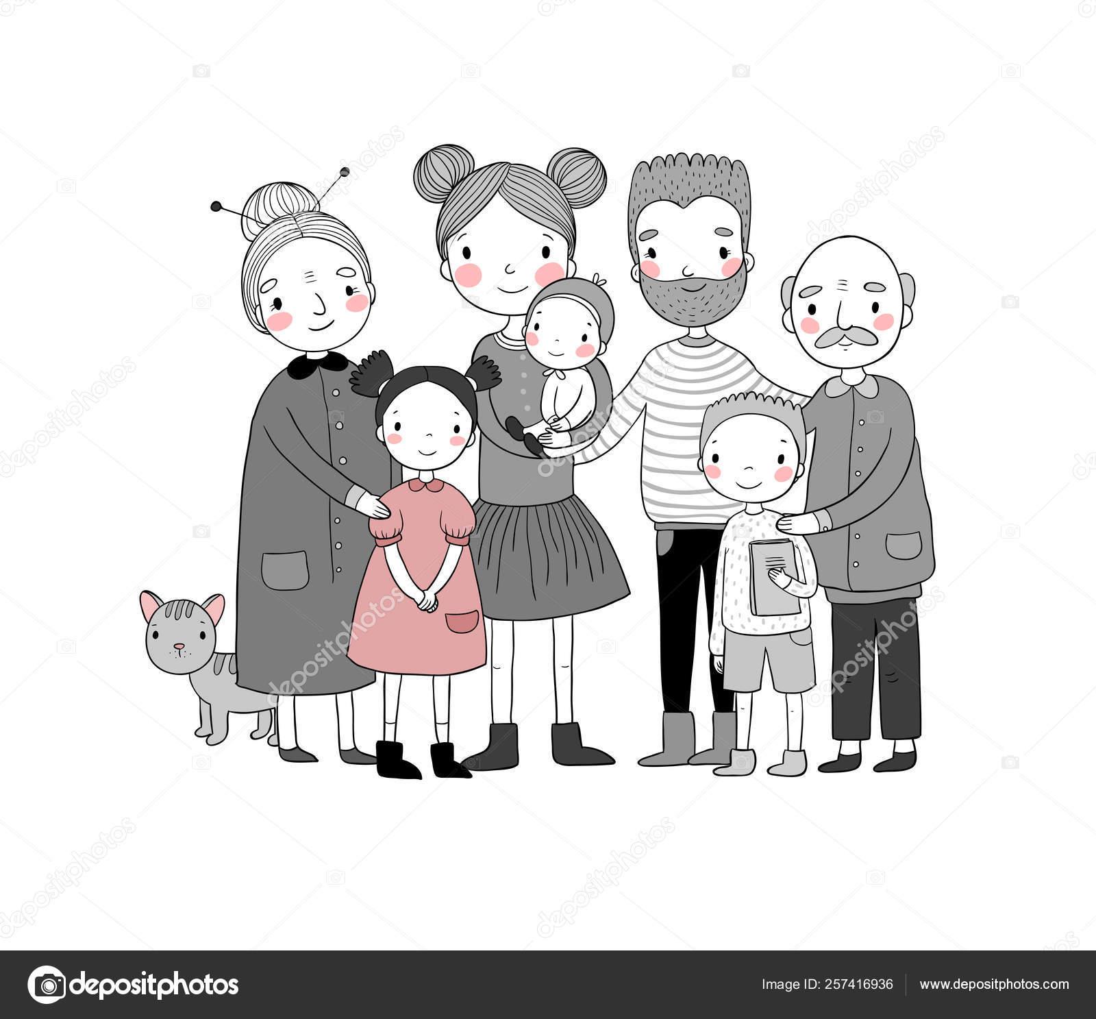 Дочь, семья, -, сын, дед, бабушка, отец, мама, счастливый. Дочь ... | 1487x1600