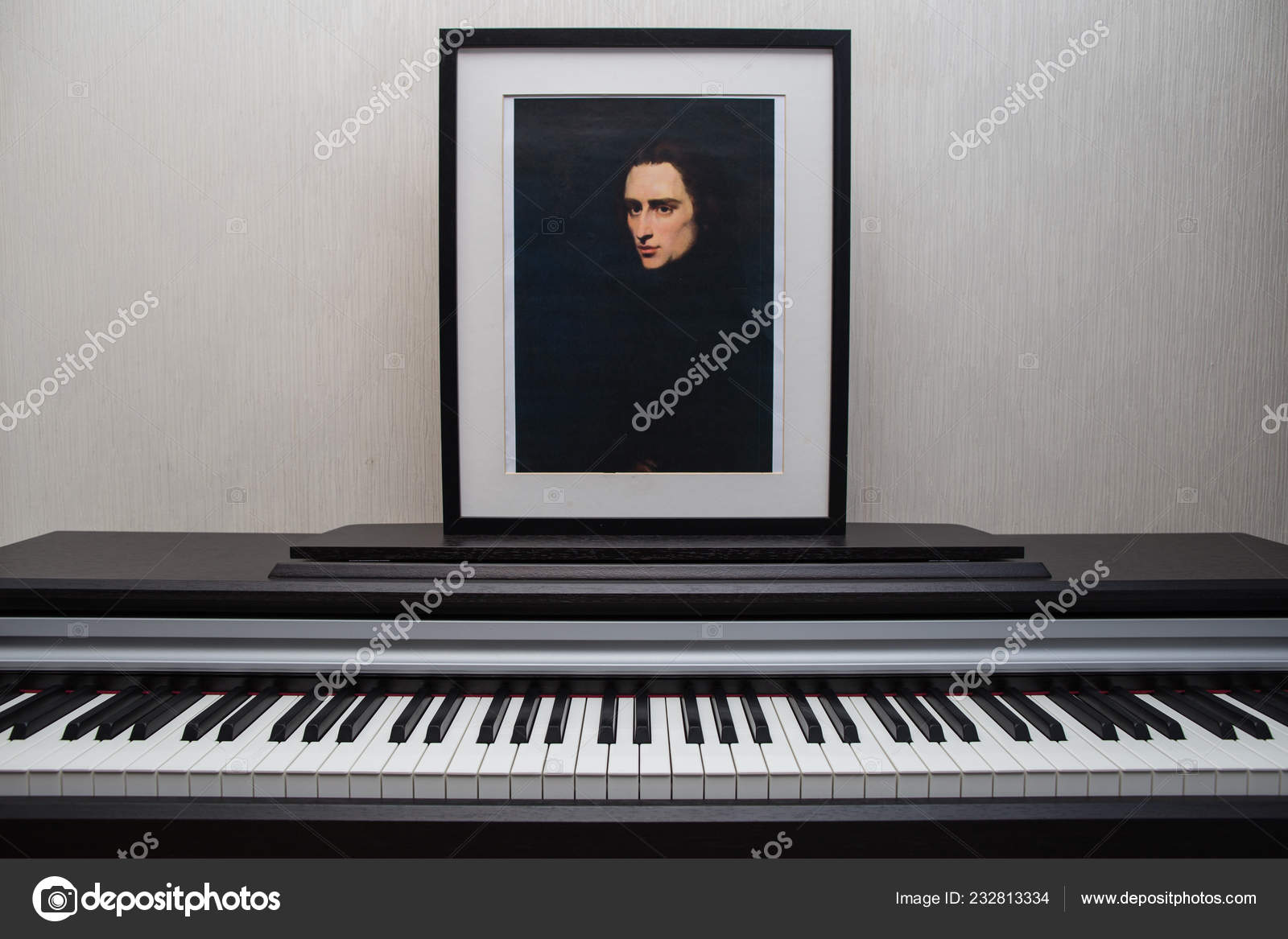 2018 Moscow Russia Liszt Portrait Piano Composition Composer