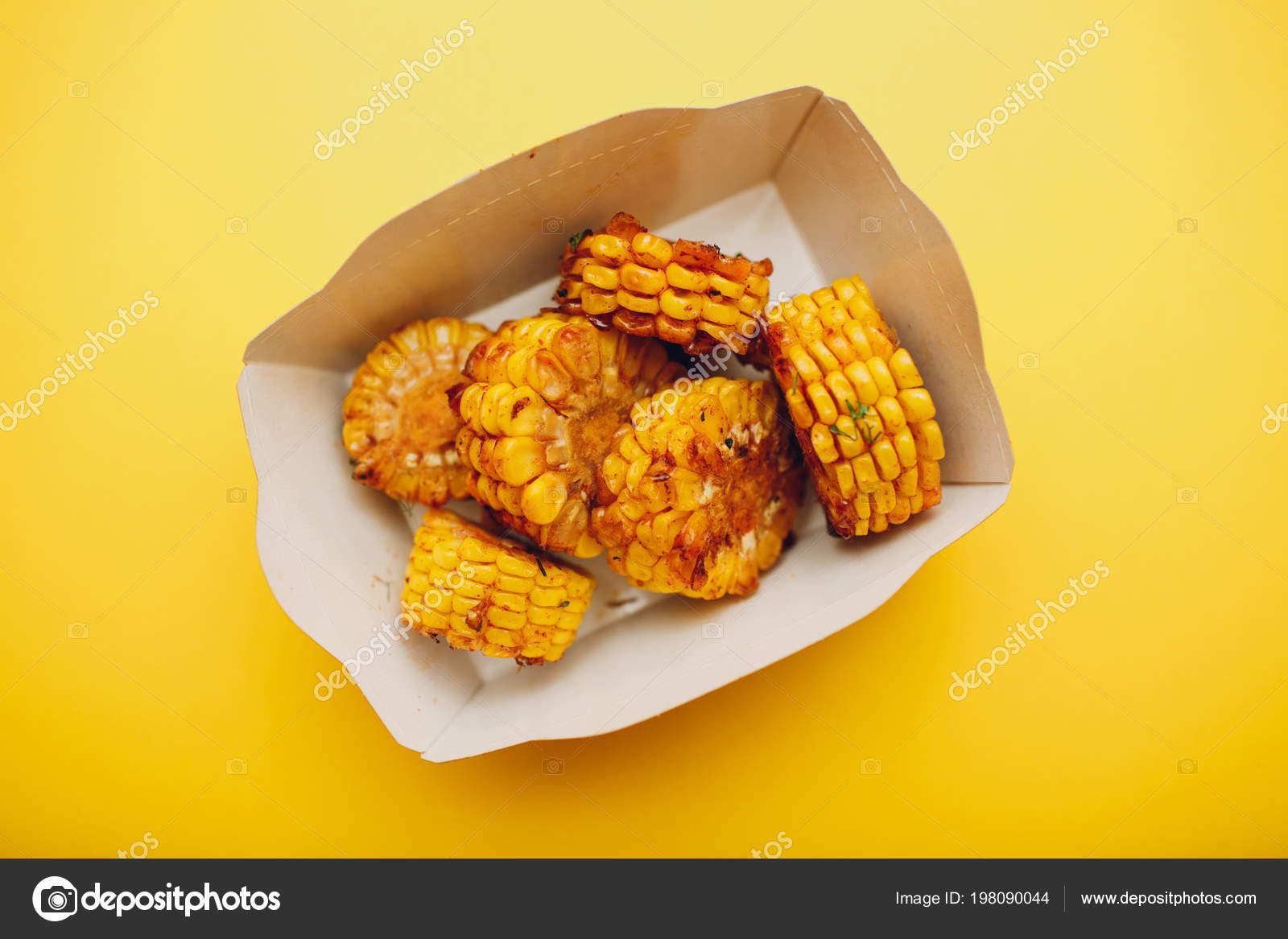 Food Court Concept Sweet Corn — Stock Photo © atercorv gmail