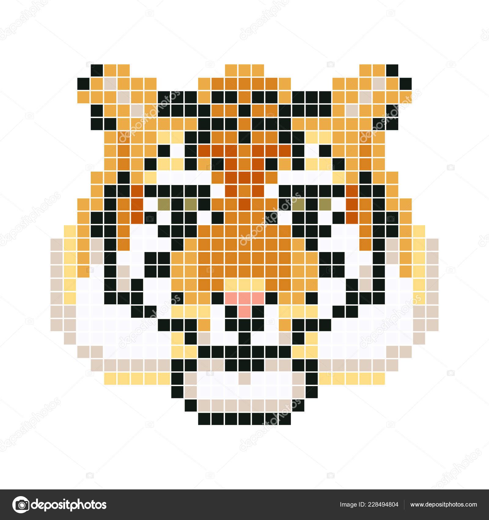 Tigre Pixel Illustration Vectorielle Image Vectorielle