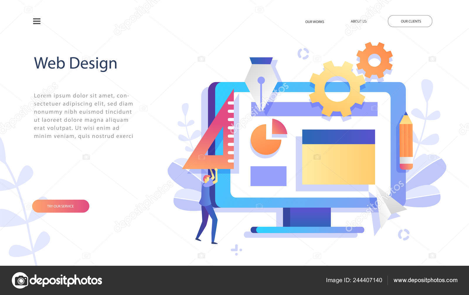 Concept Web Design Development Creative Website Template Web Page Banner Stock Vector C Genadiymolnia Gmail Com 244407140