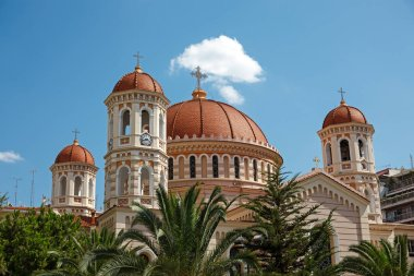 THESSALONIKI; GREECE - APRIL 10 2014 : Orthodox Metropolitan Church. Cathedral of St. Gregory Palamas in Thessaloniki.
