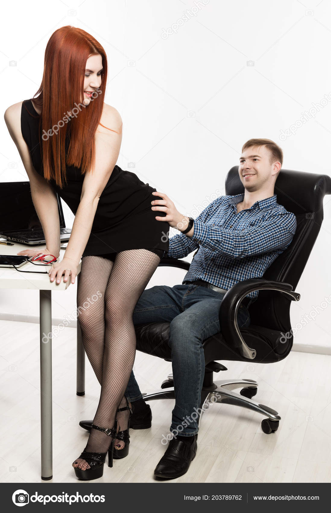 Hot secretary with boss