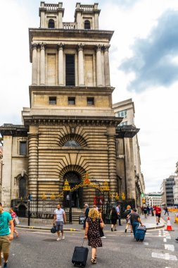Famous historic building street in London, UK