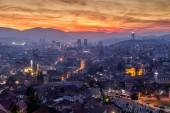 Fényképek Sarajevo Bosznia fővárosában