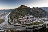 Berat old small city in Albania