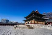 Photo Traditional Korean style architecture in Seoul, South Korea
