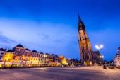 Delft, Nizozemsko - 2. května 2013: Krajina města Markt