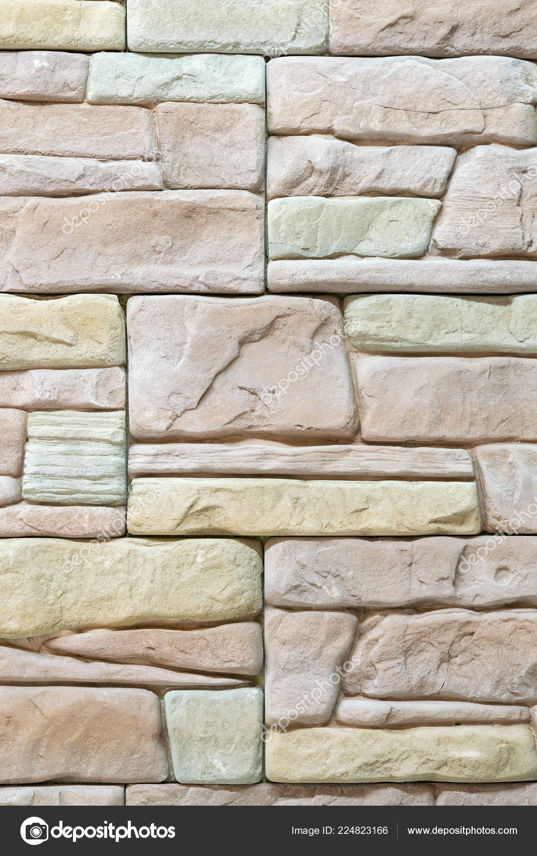 Beige Decorative Stone Wall Decoration Background Vertical