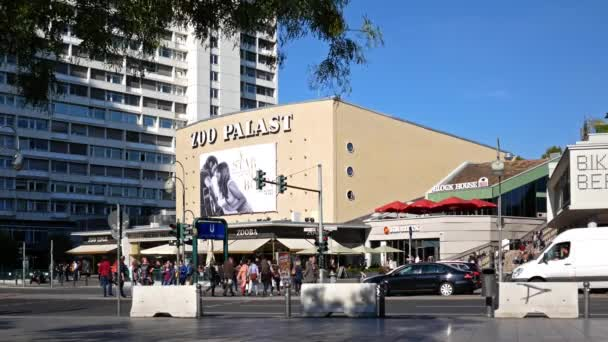 Traffic And Tourists At Famous Cinema Zoopalast In Berlin, Germany