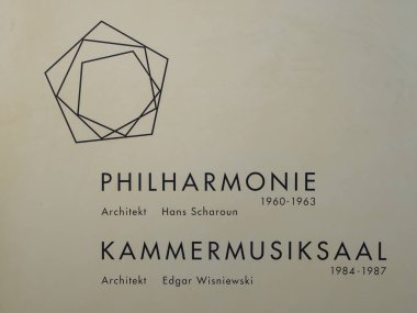 Plaque At The Berliner Philharmonie Concert Hall In Berlin