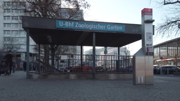 Tourists At Entrance To Metro Station Zoologischer Garten In Berlin