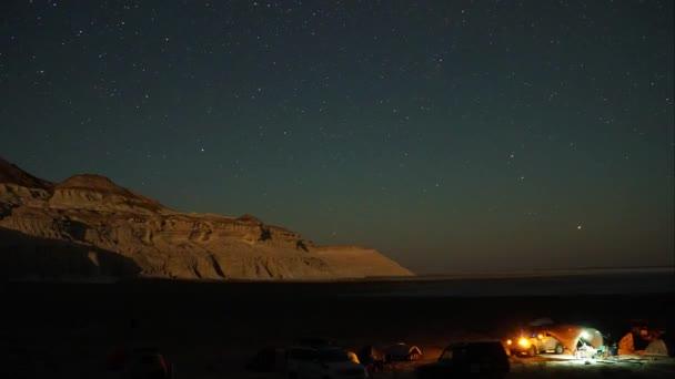 Tábor, Hora. Timelapse hvězdné oblohy