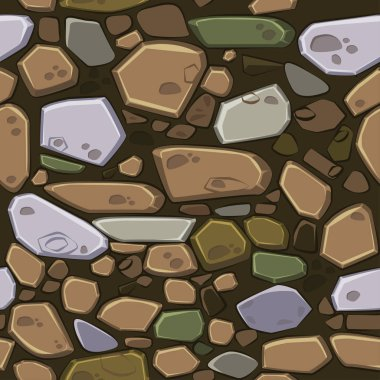 View from above seamless background texture colored stones. Illustration For Ui Game element, similar JPG copy stock vector