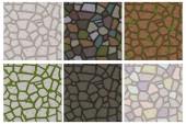 Nagy készlet rajzfilm színes kő textúra. Hasonló Jpg másolása