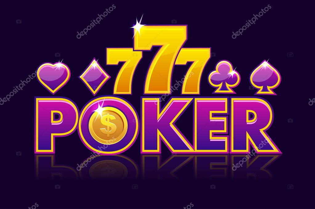 ✓ Logo Poker background for lottery or casino, slot gambling icons with  game card signs and 777. Game casino, slot, UI. Vector illustration premium  vector in Adobe Illustrator ai ( .ai )