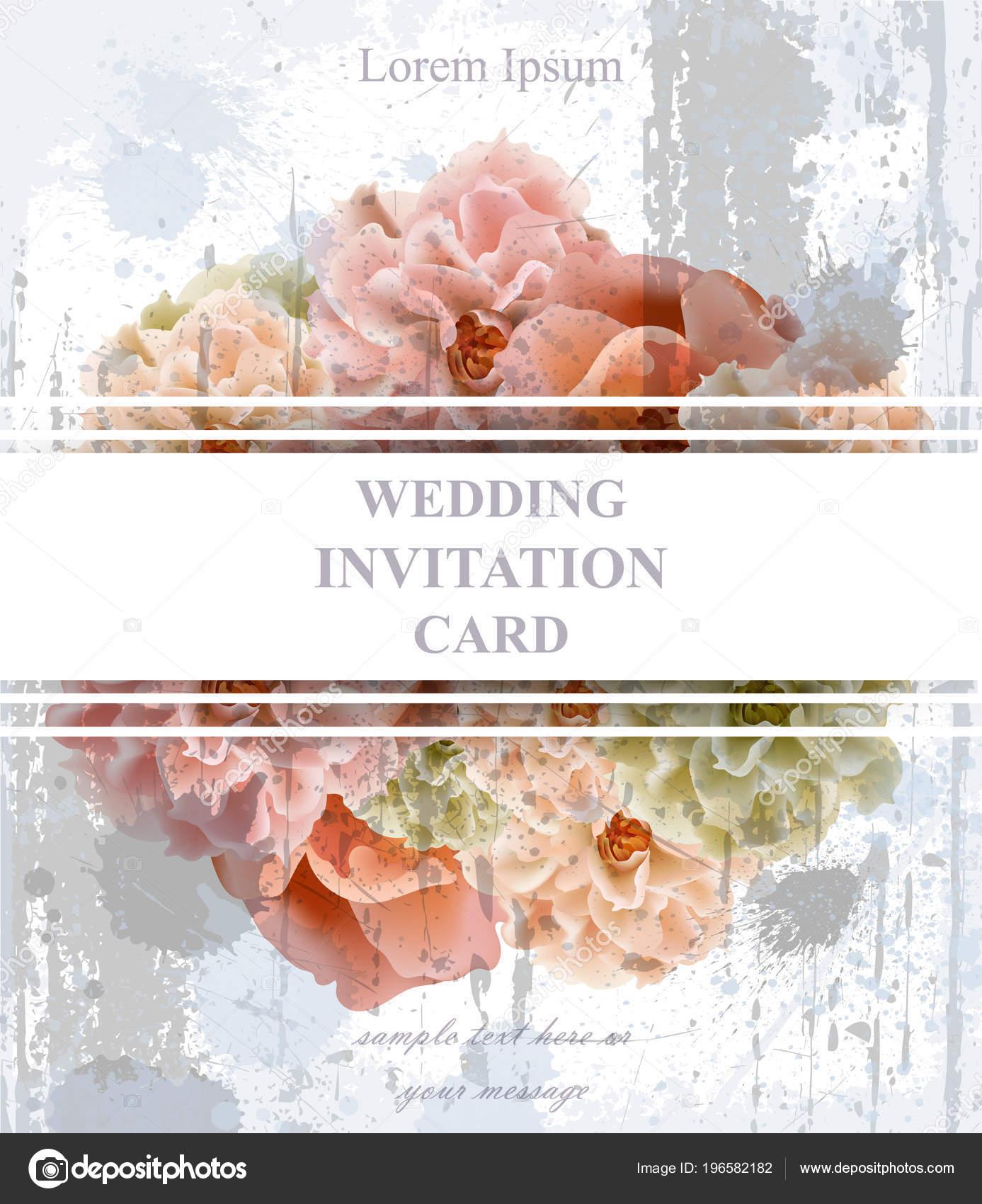 Hochzeit einladungskarte vektor schöne florale dekoration banner plakat vorlage 3d hintergründe stockvektor