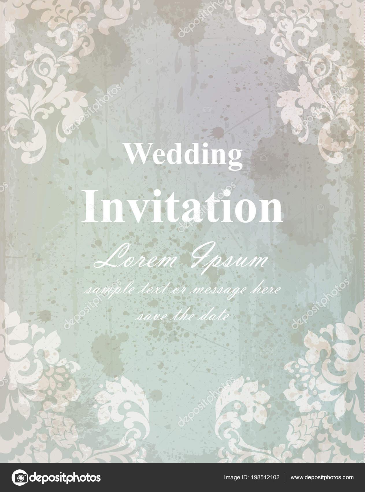 Vintage wedding invitation card baroque royal decor old paper vintage wedding invitation card baroque royal decor old paper effect styles vetor de stopboris Images