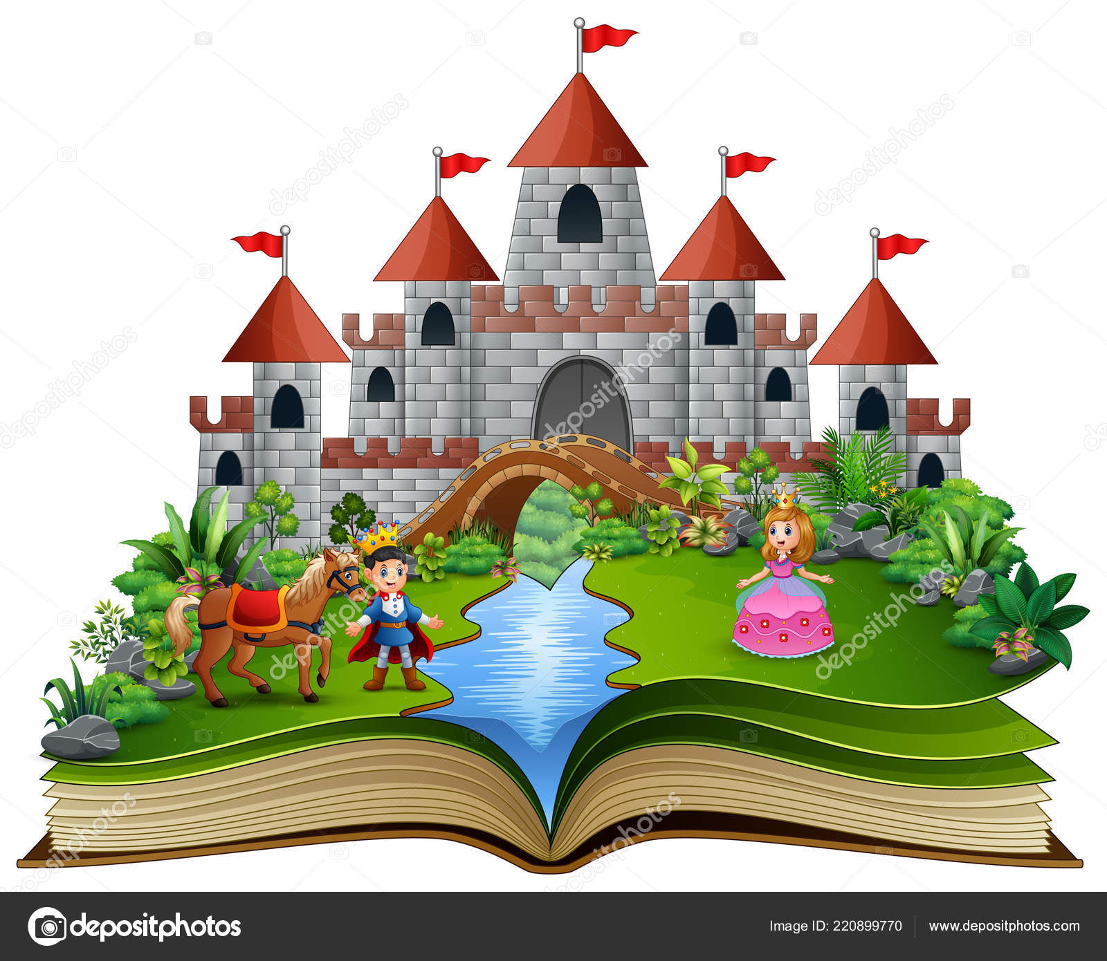 Livro História Com Desenho Animado Princesas Príncipes