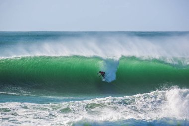 Peniche, Portugal - Oct 25th 2017 - Mick Fanning surfing a wave during the World Surf League's 2017 MEO Rip Curl Pro Portugal surf competition in Peniche, Portugal