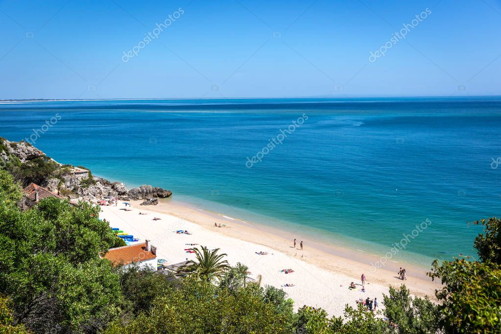 Beautiful day in Galapinhos Beach in Arrabida National Park in Portugal