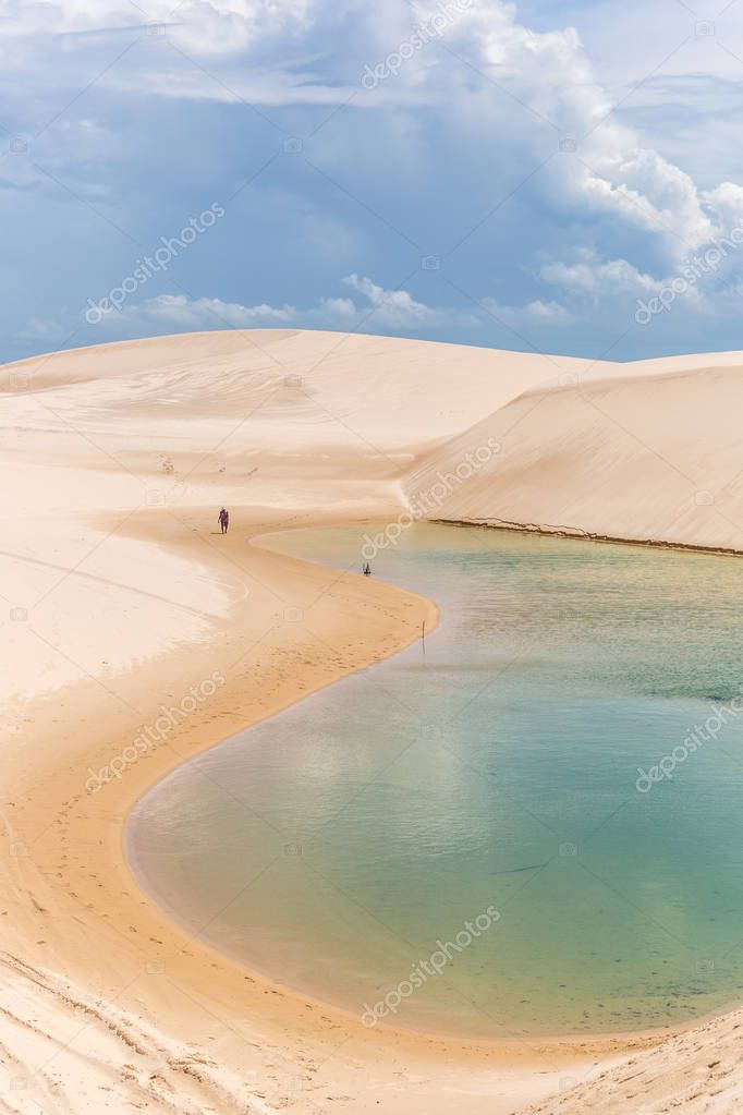 Amazing scenario at Lencois  Maranhenses National Park, which receives as many as 60,000 visitors a year