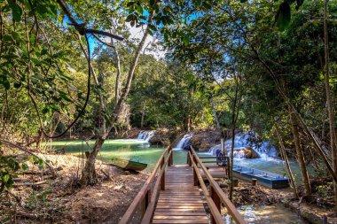 An eco-tourism trail in Bonito, a touristic destination in Brazil