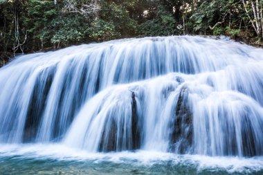 A waterfall in Bonito, Brazil