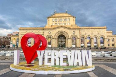I am Yerevan sign in Yerevan Armenia