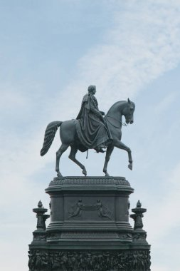 The statue of King Johann Saxon in Dresden.