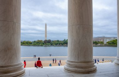 Washington, USA - October 12, 2017: The Tidal Basin seen from the Jefferson Memorial