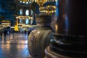 Istambul, Turecko - 20 února 2013: Interiér baziliky Hagia Sophia, bývalý Ortodox katedrála později mešita, nyní muzeum