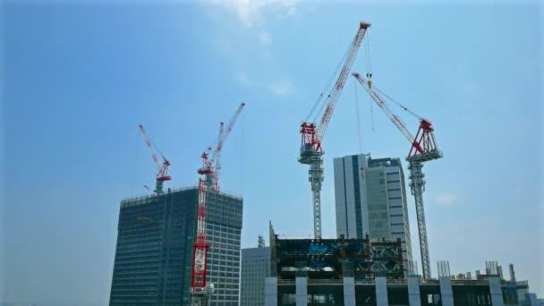 Time lapse of buildings under construction