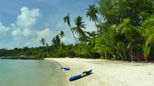 picturesque marina with tropical beach. Vacation and travel