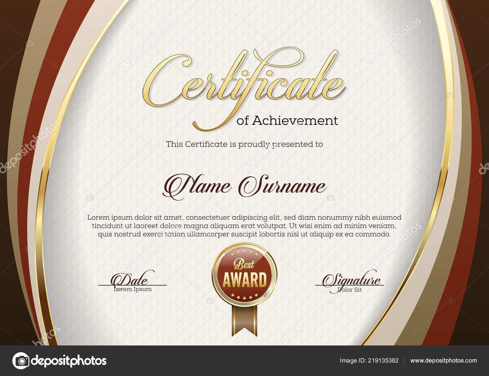 Certificate Achievement Template Premium Stock Vector C Visarts