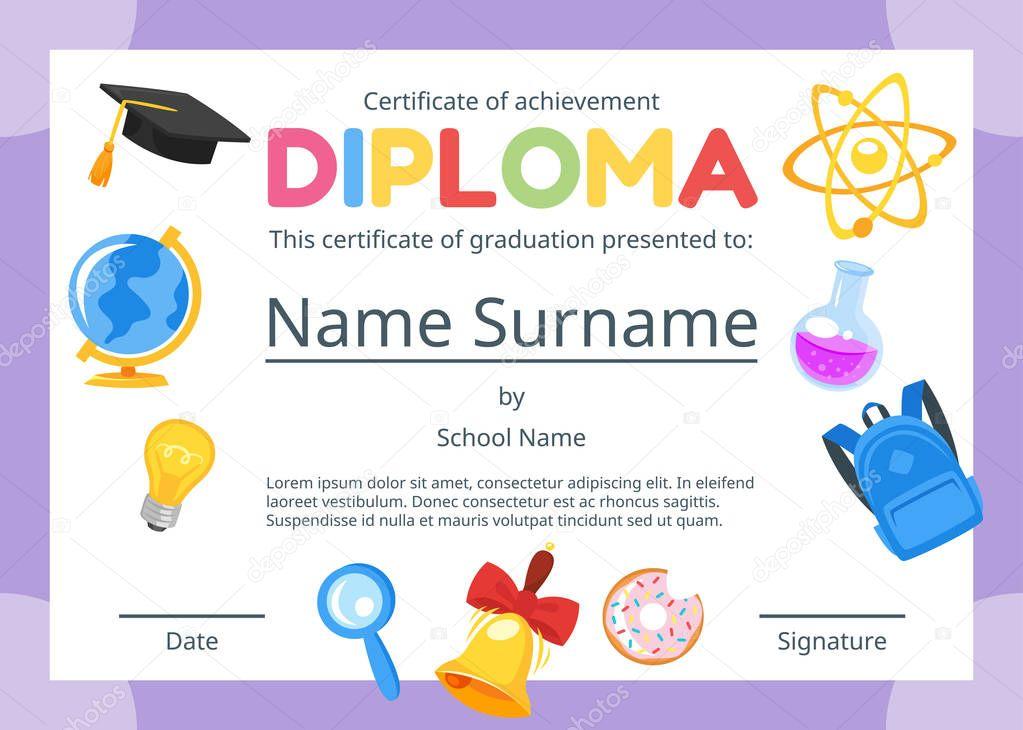 certificado de diploma de crianças para o pré escolar \u2014 vetor decertificado de diploma de crianças para o pré escolar \u2014 vetor de stock © tkronalter9 gmail com 205945650
