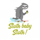 Photo tshirt design with sloth