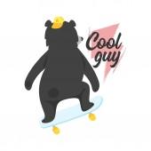 Photo black bear design for t-shirt