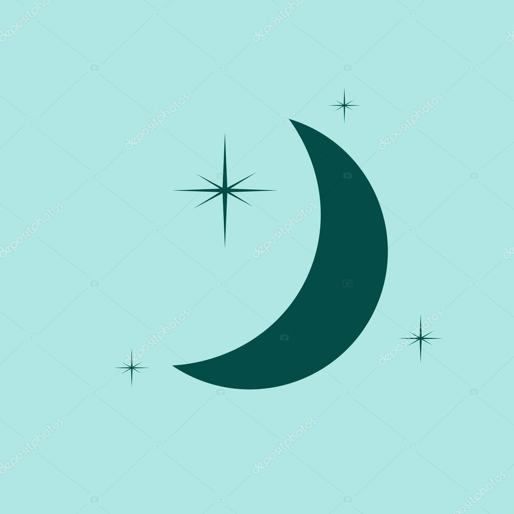 Moon & stars vector icon