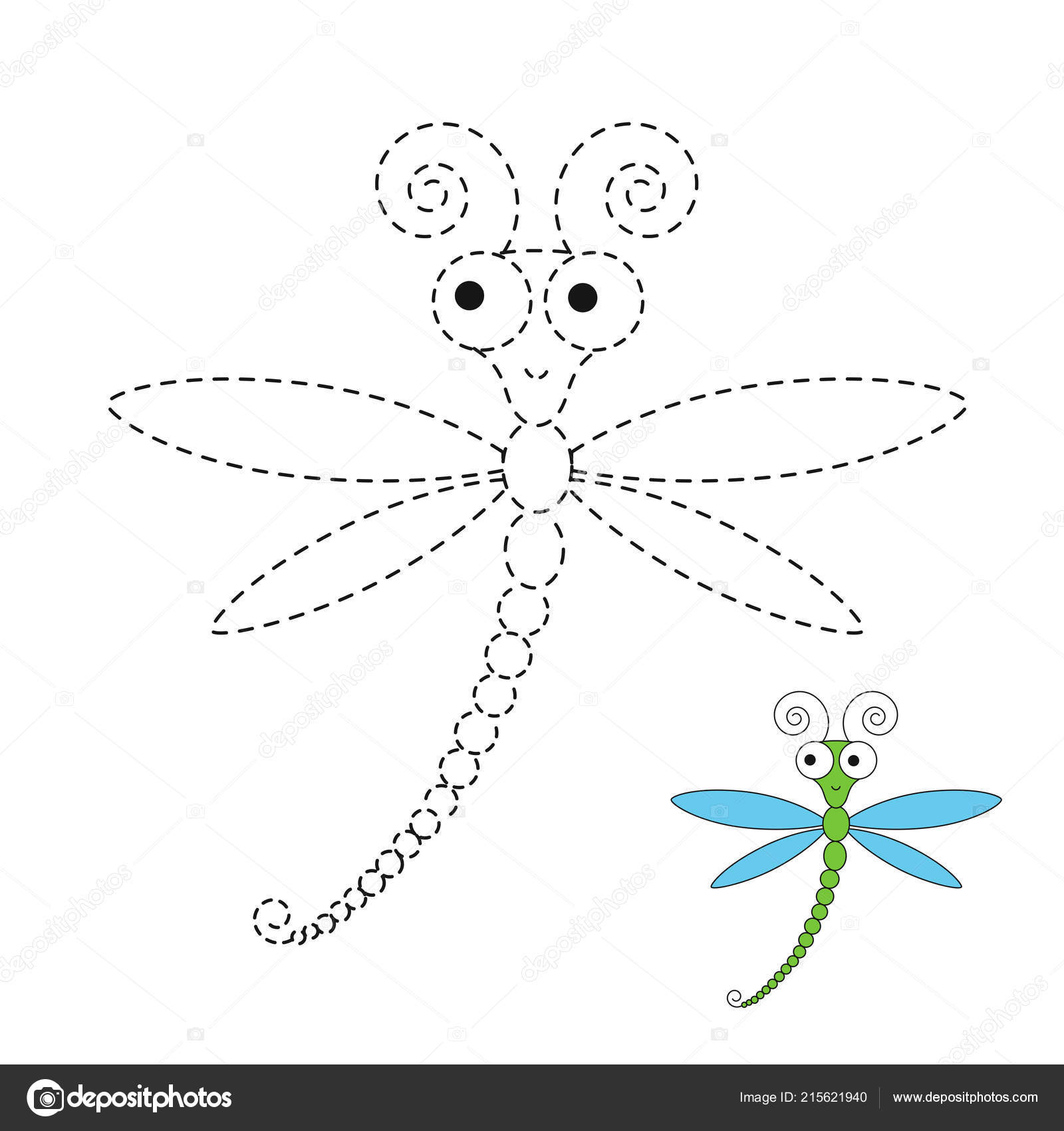 Simple Dragonfly Drawing Easy