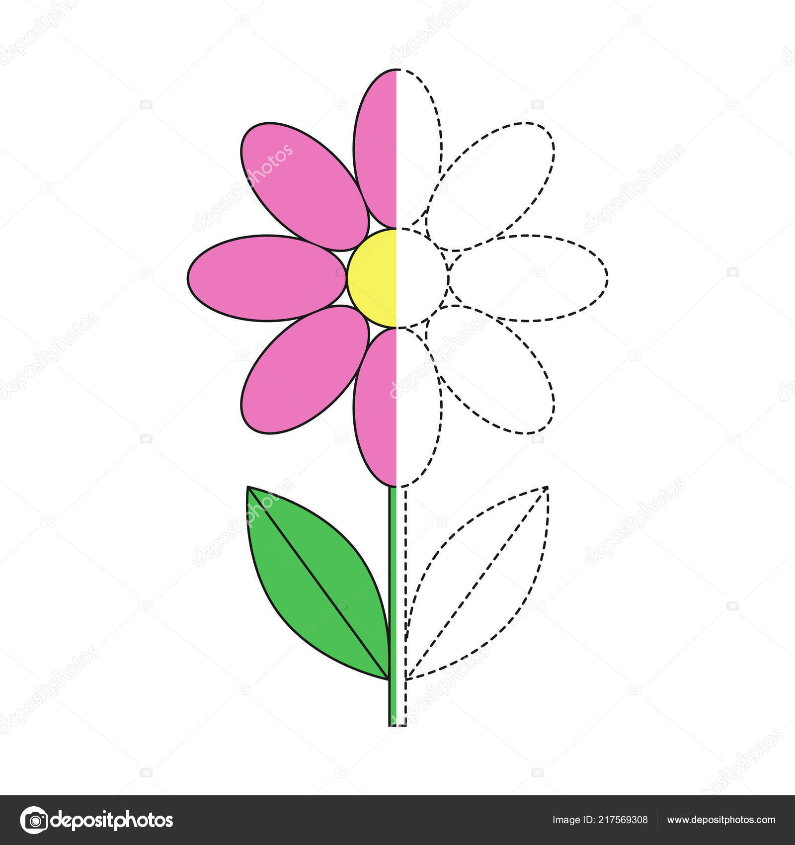 Picture flowers to draw easy