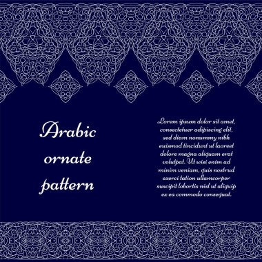 Seamless ethnic patterns for border.