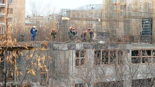 Workers at the Construction site